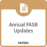 Annual FASB updates papers icon