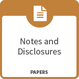 Notes and disclosures - papers icon