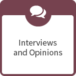 Interviews and opinions icon