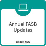 Annual FASB Updates webinar icon