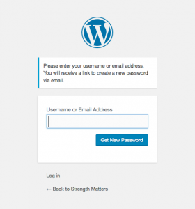 Wordpress password reset image